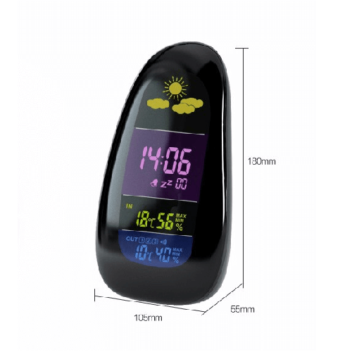 Indoor Temperature Time Clock Weather Station-HAPTIME