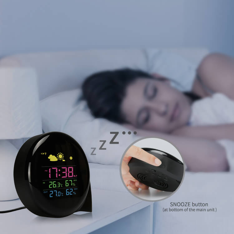 weather station alarm clock
