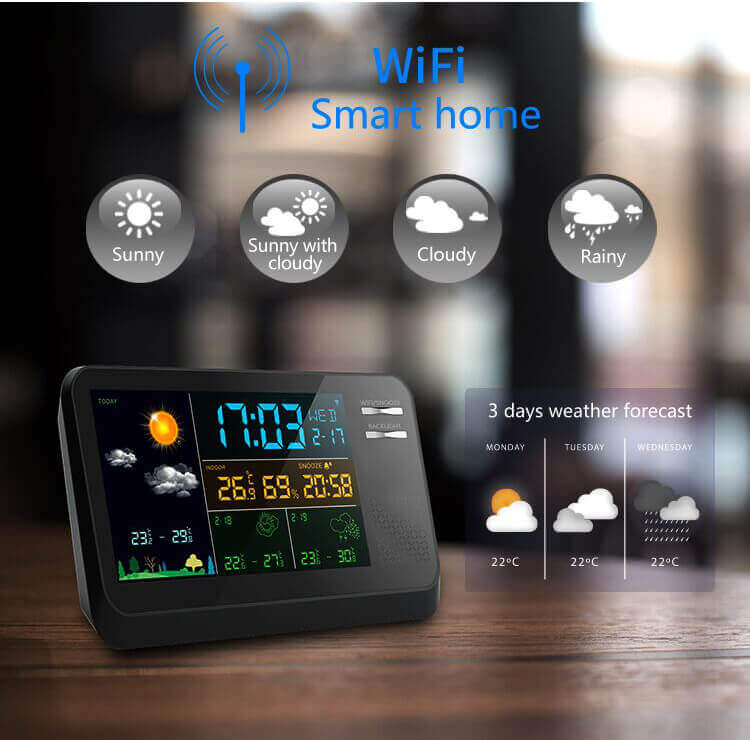 Wifi Weather Station | Outdoor Wireless Weather Clock | HAPTIME