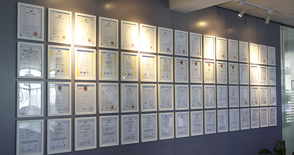 Certificate wall