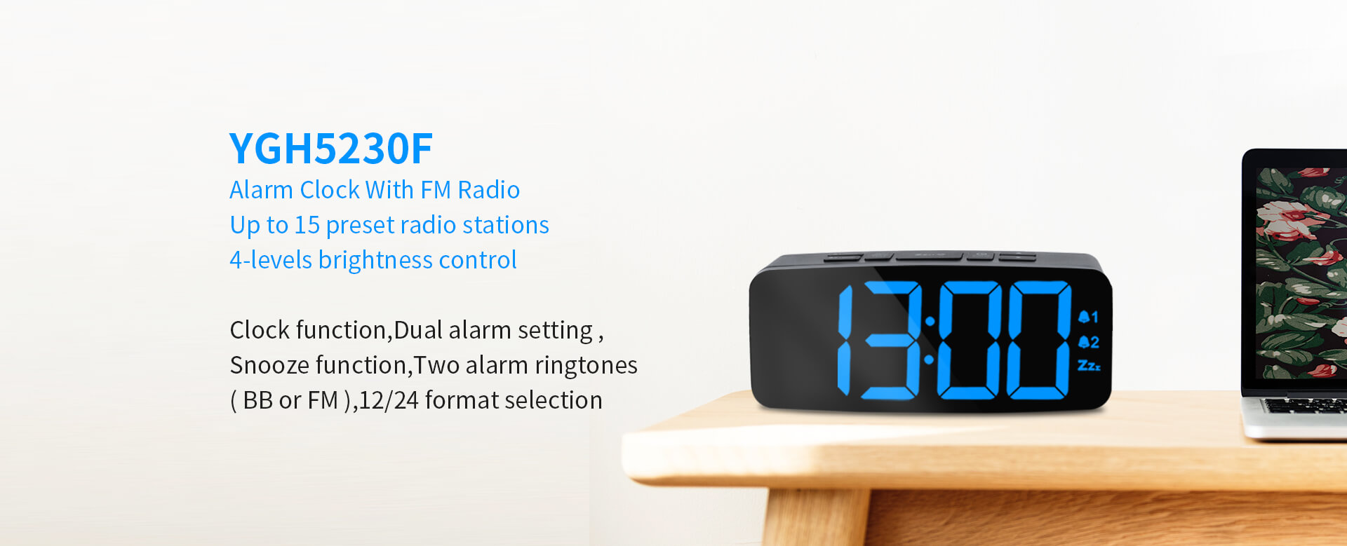 Alarm Clock With FM Radio