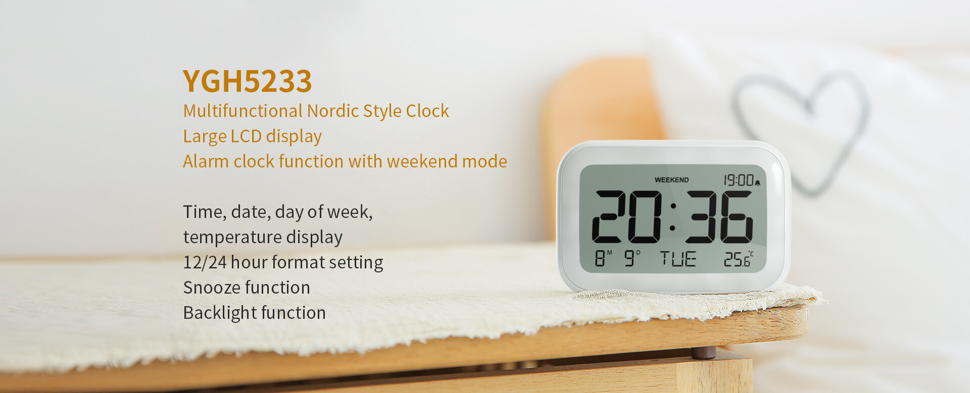 Multifunctional Nordic Style Clock